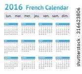 2016 french european calendar.... | Shutterstock .eps vector #316623806