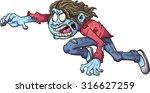 cartoon zombie girl. vector...   Shutterstock .eps vector #316627259