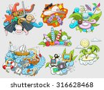 summer set design color  vector ...   Shutterstock .eps vector #316628468
