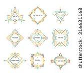 geometrical line logo... | Shutterstock .eps vector #316631168