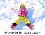 Happy Child Enjoying Winter...