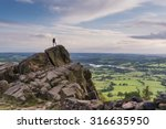 A Climber At The Roaches With ...