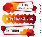 happy thanksgiving banner.... | Shutterstock .eps vector #316636064