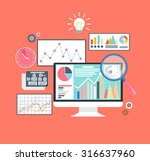 analysis in flat style. price... | Shutterstock . vector #316637960