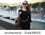 young beautiful stylish girl... | Shutterstock . vector #316638920