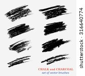 A set of brushes for design created with chalk and charcoal strokes. In the settings saved scale option unchanged.