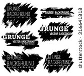 set of black ink vector stains | Shutterstock .eps vector #316641818