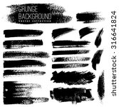 set of black ink vector stains | Shutterstock .eps vector #316641824