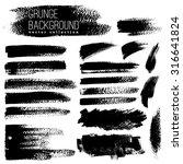 set of black ink vector stains | Shutterstock .eps vector #316641824