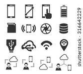 specification smartphone icon... | Shutterstock .eps vector #316642229
