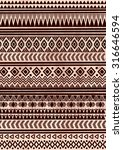 ethnic indian pattern. tribal... | Shutterstock .eps vector #316646594