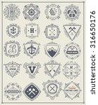retro logotypes  identity ... | Shutterstock .eps vector #316650176