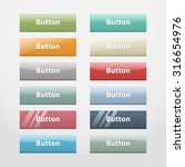 colorful realistic web buttons... | Shutterstock . vector #316654976