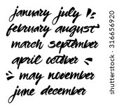 hand painted names of months.... | Shutterstock .eps vector #316656920