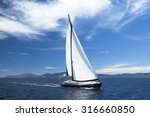 sailing ship yachts with white... | Shutterstock . vector #316660850