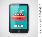 transportation ferry flat icon... | Shutterstock .eps vector #316666913
