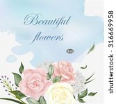 elegant greeting card template... | Shutterstock .eps vector #316669958