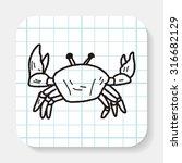crab doodle | Shutterstock .eps vector #316682129
