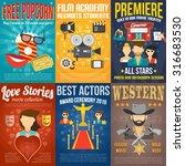 movie premiere mini promo...   Shutterstock .eps vector #316683530