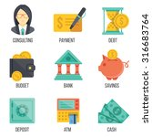 banking and finance icons set....