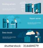 datacenter horizontal banner... | Shutterstock .eps vector #316684079