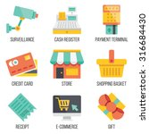 retail and ecommerce icons set. ...