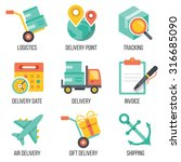 delivery and logistics icons...