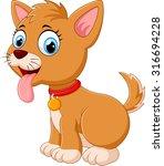 cute fun puppy | Shutterstock . vector #316694228