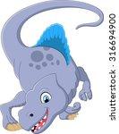 dinosaur spinosaurus cartoon | Shutterstock . vector #316694900