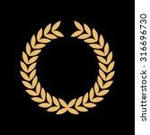 caesar crown leaf logo vector | Shutterstock .eps vector #316696730