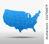 map of usa | Shutterstock .eps vector #316700879