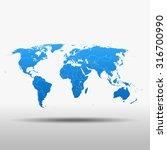 map of world | Shutterstock .eps vector #316700990