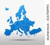 map of europe | Shutterstock .eps vector #316700993