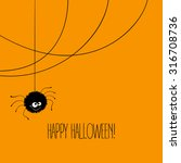 funny halloween greeting card... | Shutterstock .eps vector #316708736