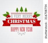 christmas labels  emblems  ... | Shutterstock .eps vector #316708754