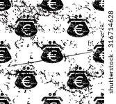 euro purse pattern  grunge ...