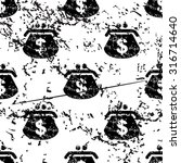 dollar purse pattern  grunge ...