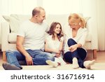 family  child and home concept  ... | Shutterstock . vector #316716914