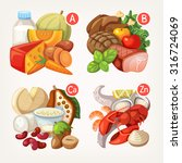 groups of healthy fruit ... | Shutterstock .eps vector #316724069