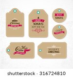 christmas sale  gift tags and... | Shutterstock .eps vector #316724810