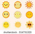 set of cute sun icons | Shutterstock .eps vector #316731320
