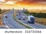 highway transportation with... | Shutterstock . vector #316733366