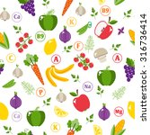 seamless pattern with fruits....   Shutterstock . vector #316736414