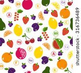 seamless pattern with fruits.... | Shutterstock . vector #316736489
