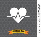 Vector Icon Of Heart On Dark...