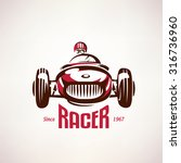 retro race car  vintage vector... | Shutterstock .eps vector #316736960