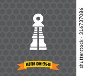 vector icon of chess pawn on...