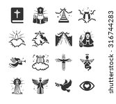 heaven icons. included the... | Shutterstock .eps vector #316744283