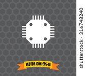 vector icon of circuit board...