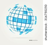 vector globe icon | Shutterstock .eps vector #316750250